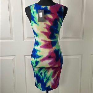 Fashion Nova Dresses - Fashion Nova Tie Dye Twist Front Mini Dress NWT